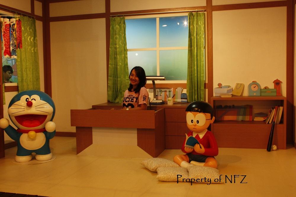 Foto booth replika kamar Nobita